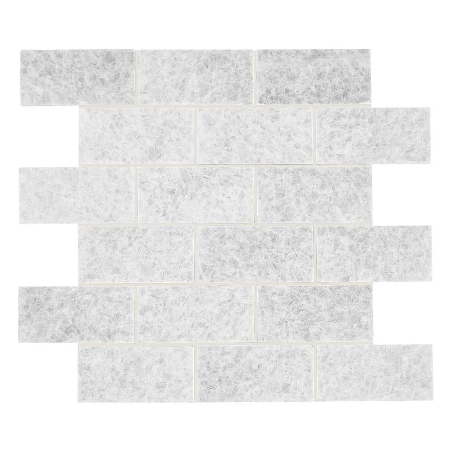 american olean genuine stone crystal white 12 in x 14 in honed natural stone marble brick stone look floor and wall tile