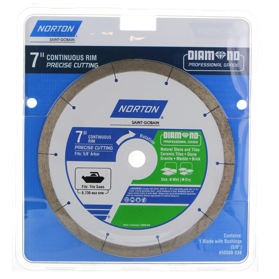 norton 7 in wet dry continuous diamond saw blade