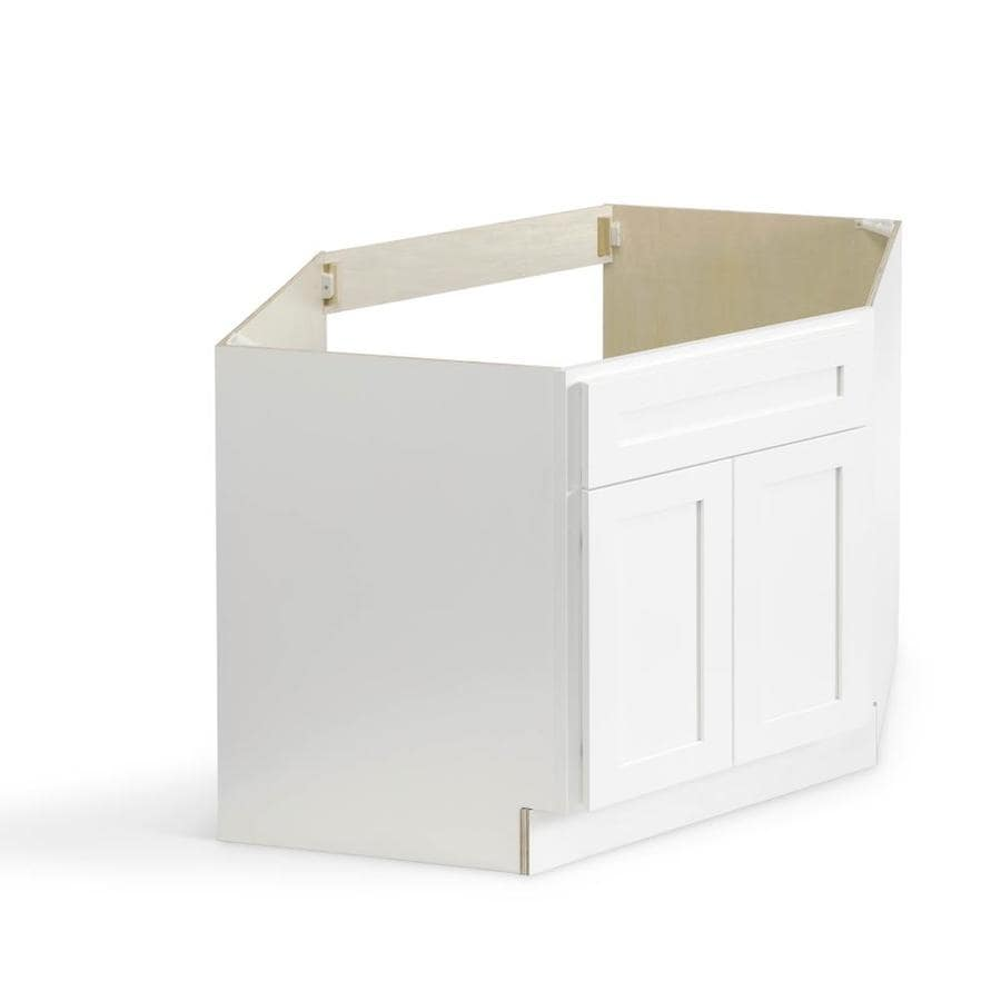 valleywood cabinetry 42 in w x 34 5 in h x 24 in d pure white birch sink base stock cabinet