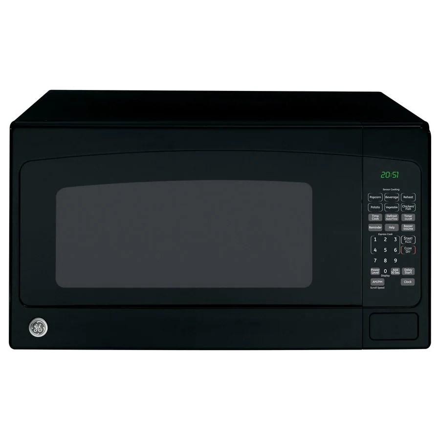 ge 2 cu ft 1200 watt countertop microwave black