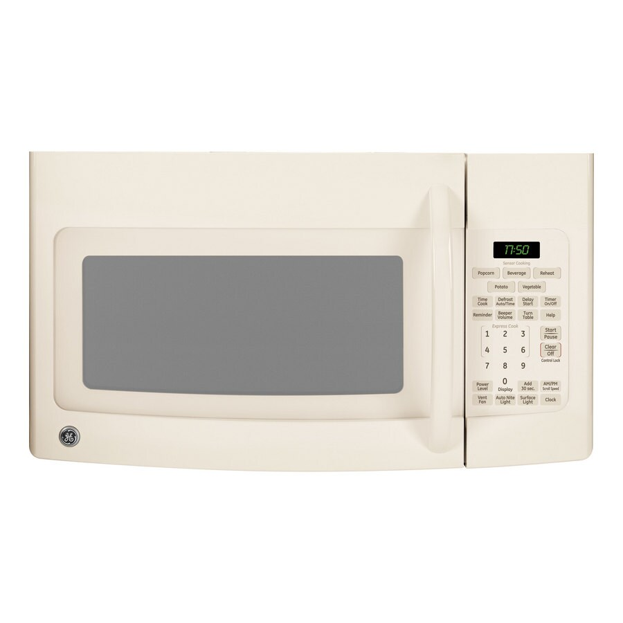 ge 1 7 cu ft over the range microwave bisque