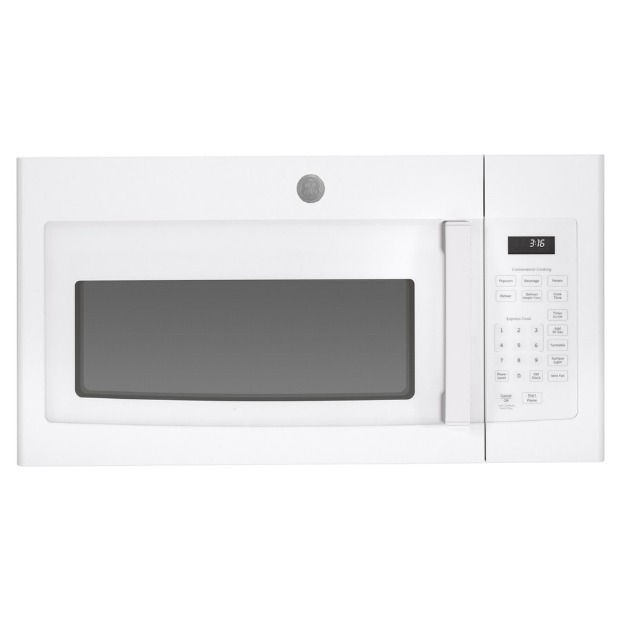ge 1 6 cu ft over the range microwave white