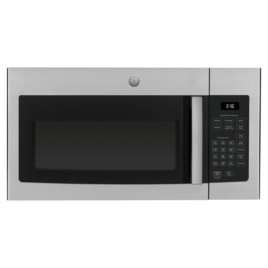 ge 1 6 cu ft over the range microwave stainless steel lowes com