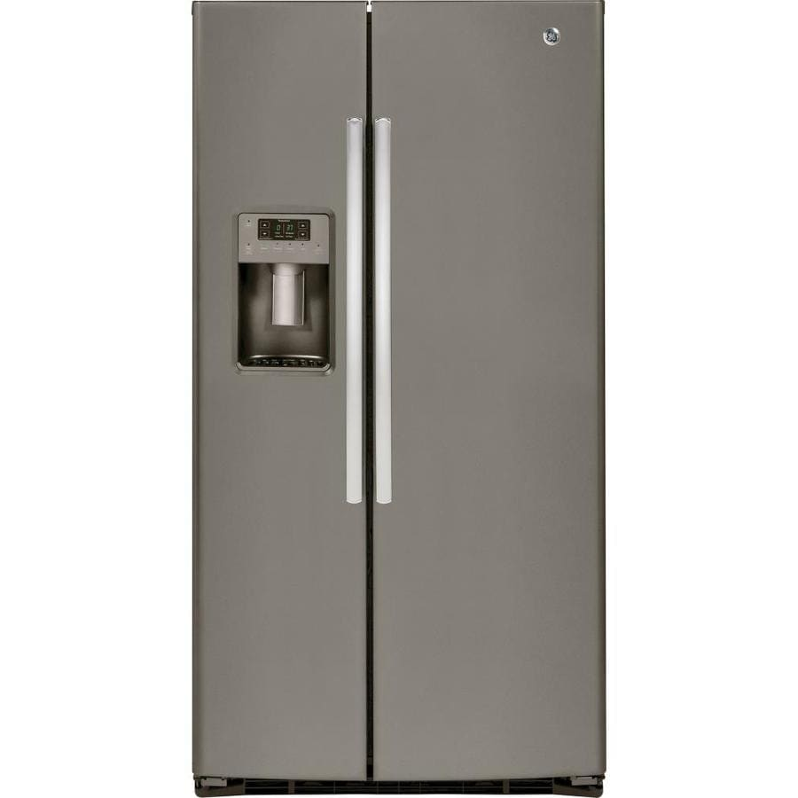 Ge 25 4 Cu Ft Side By Side Refrigerator With Ice Maker