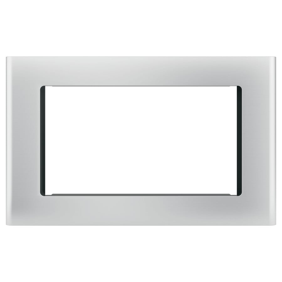 ge profile built in microwave trim kit stainless steel lowes com