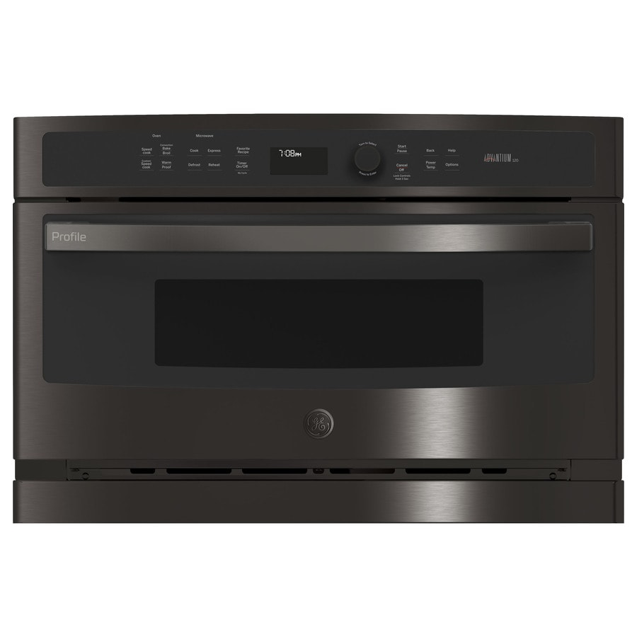 ge profile advantium 1 7 cu ft built in microwave with sensor cooking controls and speed cook black stainless