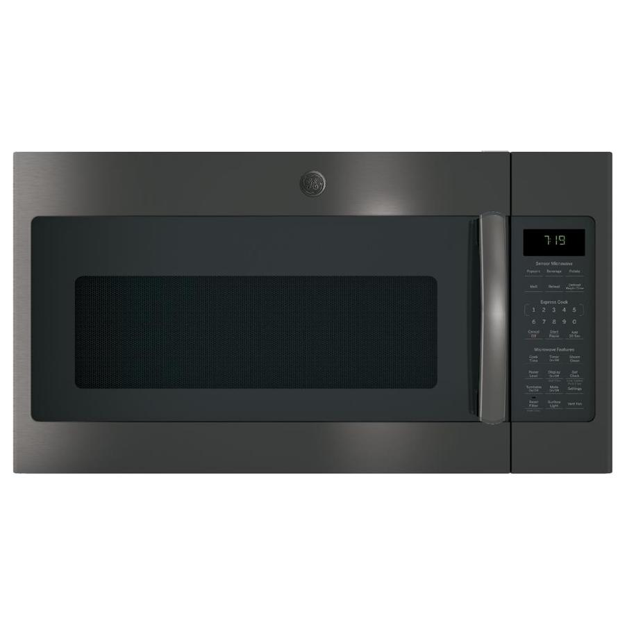 ge 1 9 cu ft over the range microwave with sensor cooking black stainless
