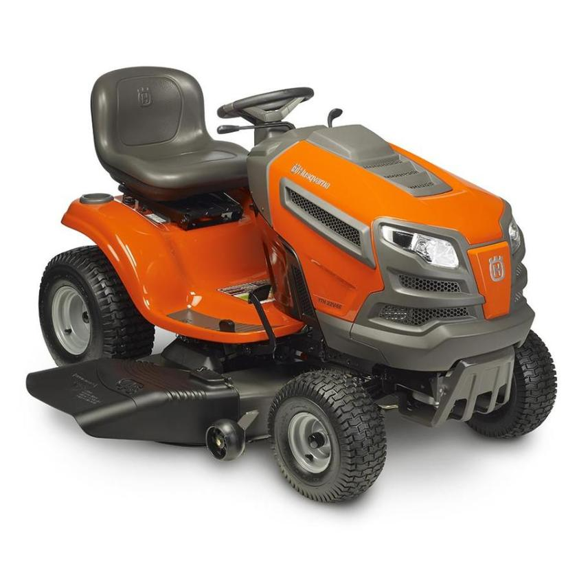 Husqvarna YTH22V46 22-HP V-twin Hydrostatic 46-in Riding Lawn Mower with  Mulching Capability (Kit Sold Separately) in the Gas Riding Lawn Mowers  department at Lowes.com