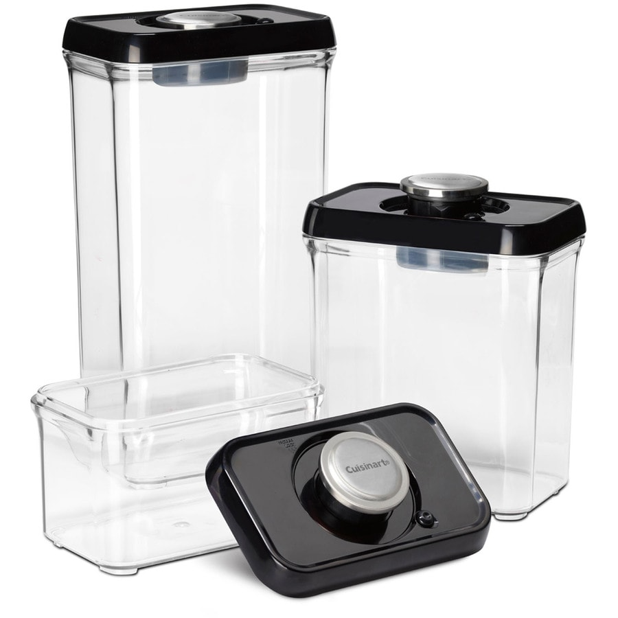 Shop Cuisinart 3 Piece Plastic Food Storage Container At