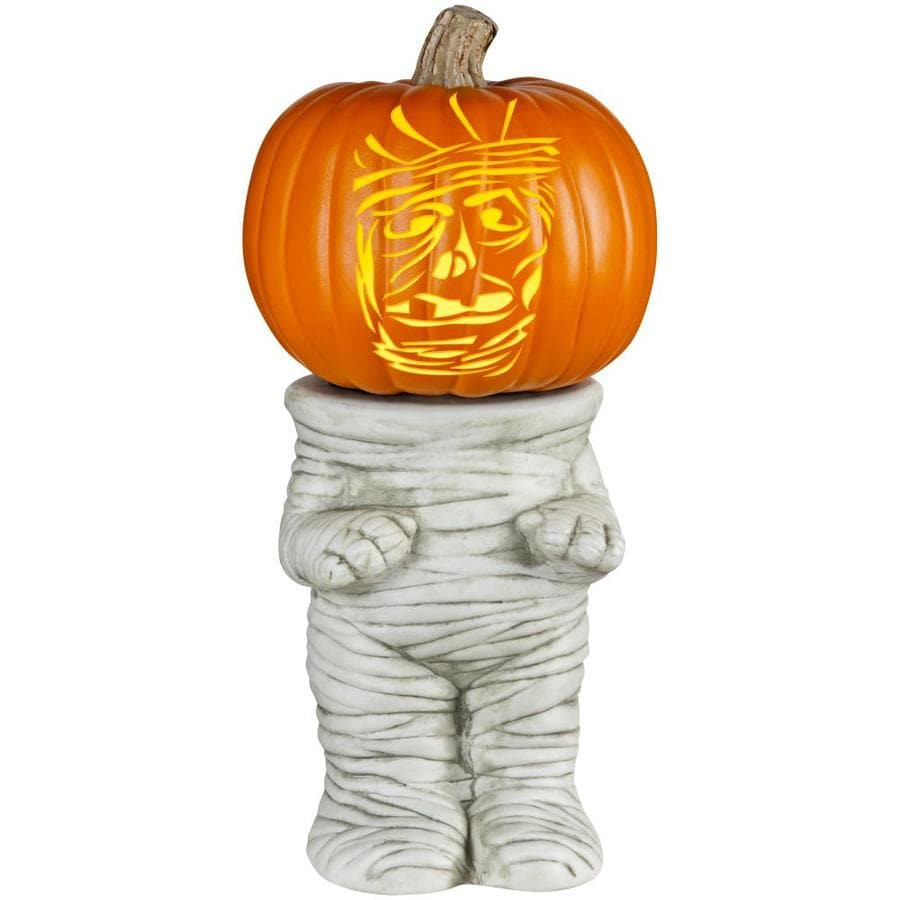 Holiday Living Mummy Pumpkin Stand At Lowes Com