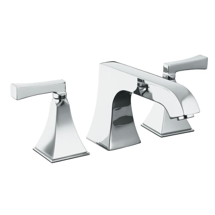 kohler memoirs polished chrome 2 handle fixed deck mount bathtub faucet