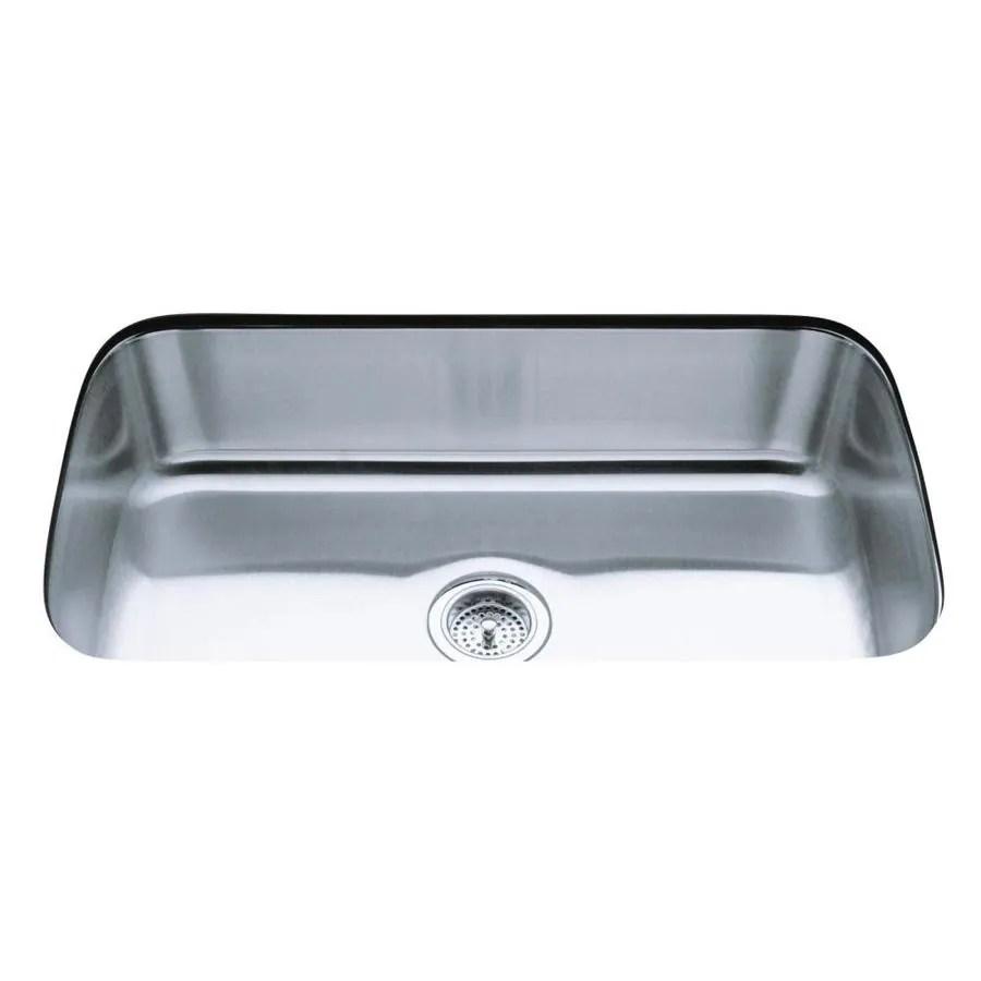 kohler undertone undermount 31 5 in x 17 75 in stainless steel single bowl kitchen sink