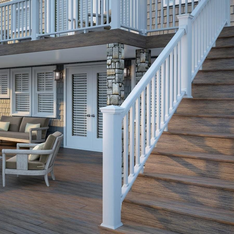 Deckorators Grab And Go Stair White Composite Deck Rail Kit With | Outdoor Step Railing Lowes | Handrail Kit | Deck Stairs | Deck Railing | Lowes Com | Composite Decking