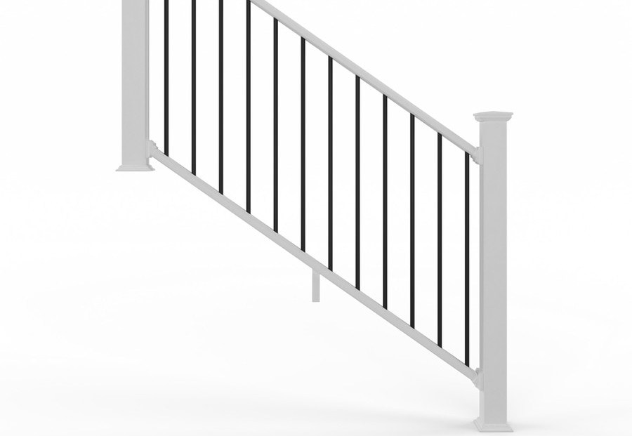 Deckorators Grab And Go 6 Ft X 2 75 In X 36 In White Composite | Outdoor Stair Railing Lowes | Winchester | Concrete | Wrought Iron Railings | Stair Treads | Matte Black