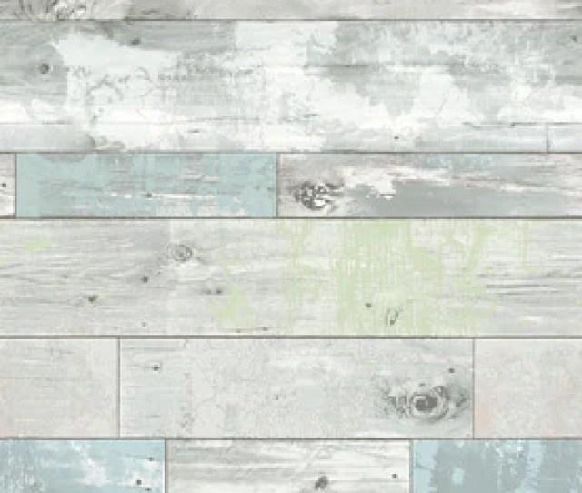 Nuwallpaper   Sq Ft Blue Vinyl Wood Peel And Stick Wallpaper