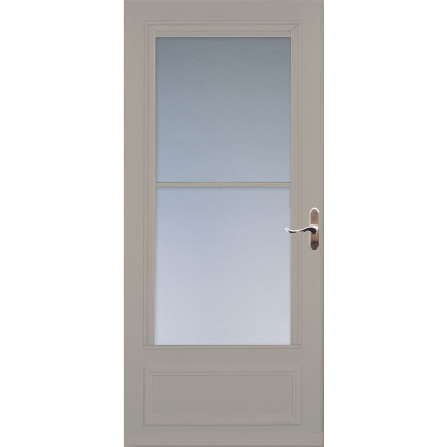 Larson Savannah Sandstone Mid View Wood Core Storm Door