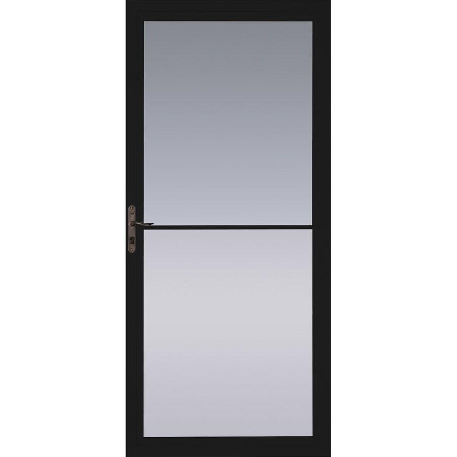 Pella Montgomery Black Full View Aluminum Storm Door With