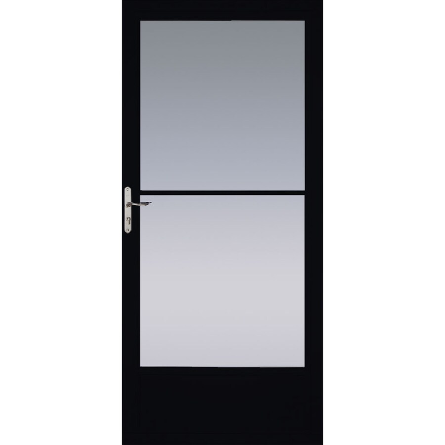 Pella Black Mid View Aluminum Storm Door Common 32 In X