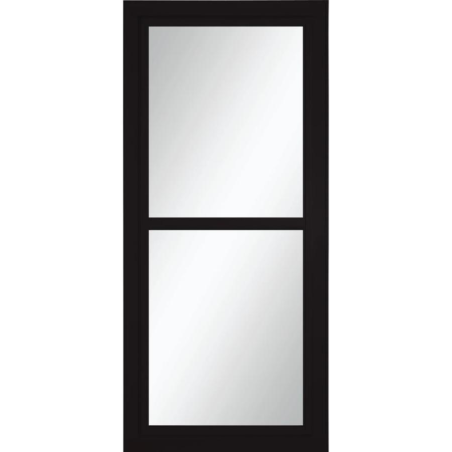 Larson Tradewinds Black Full View Aluminum Storm Door