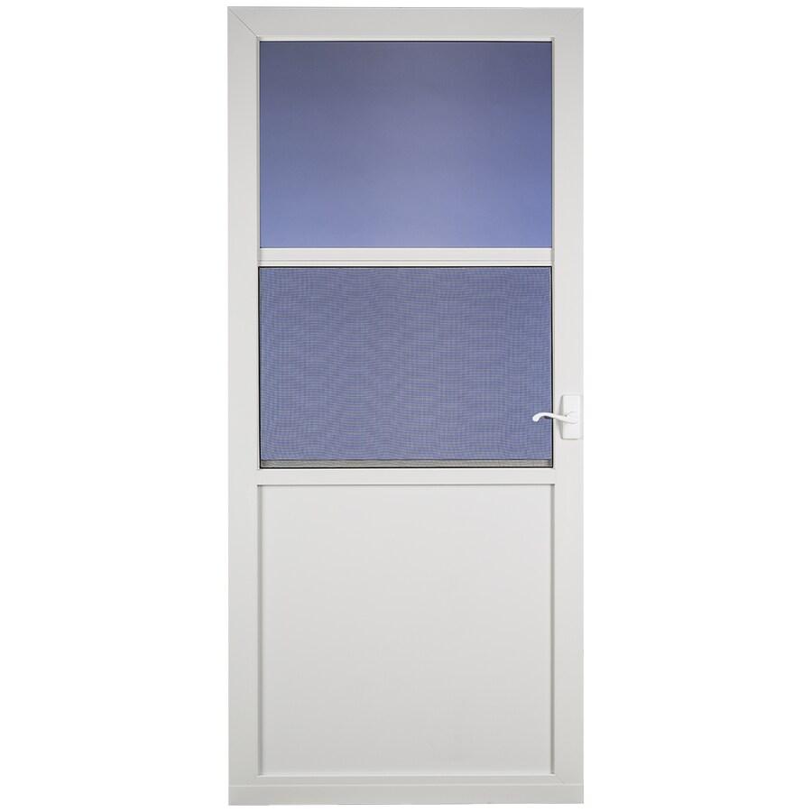 Larson Northport White High View Aluminum Storm Door