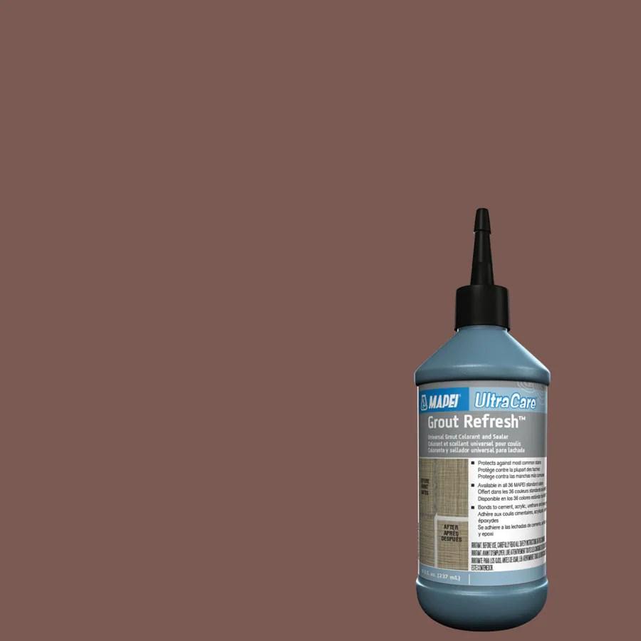 mapei grout refresh 8 fl oz brick red ceramic porcelain tile grout sealer squeeze bottle