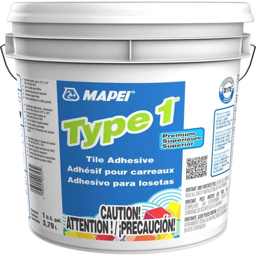 mapei type 1 ceramic tile mastic 1 gallon