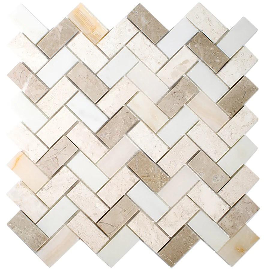 allen roth marble beige 11 in x 11 in