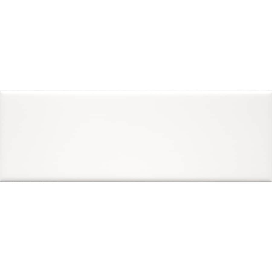 allen roth white 4 in x 12 in glazed ceramic subway wall tile