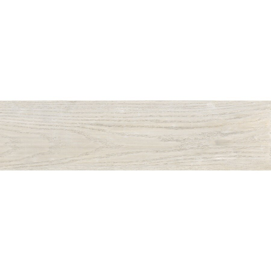 style selections eldon white wood look porcelain floor tile common 6 in x 24 in actual 5 79 in x 23 62 in
