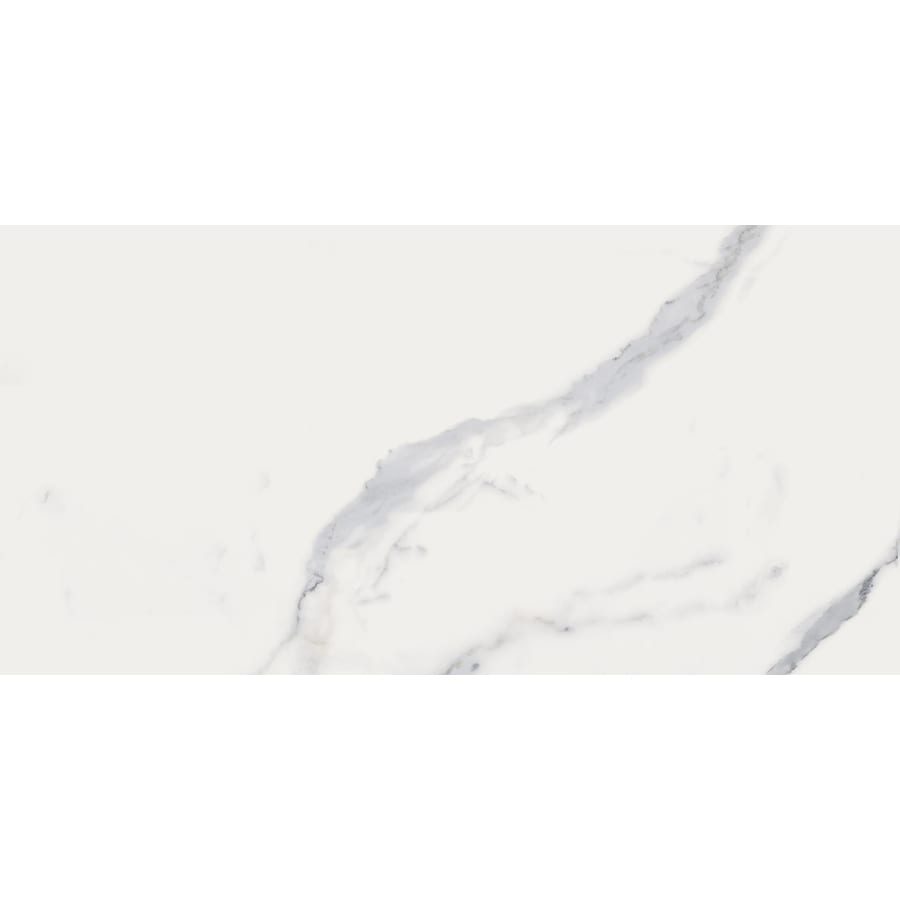 style selections statuary white 12 in x 24 in matte porcelain marble look floor tile