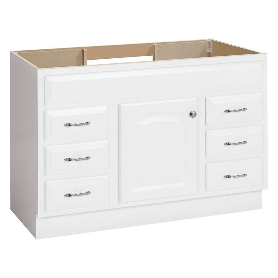 project source white bathroom vanity common 48 in x 21 in actual 48 in x 21 in