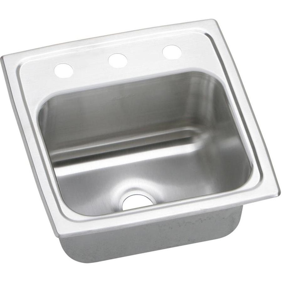 https www lowes com pd elkay gourmet brilliant satin single bowl stainless steel drop in residential bar sink 999973490