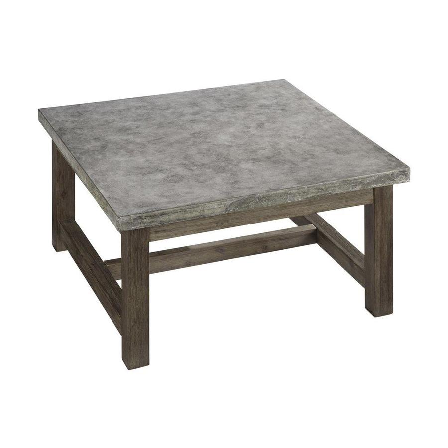 Home Styles Concrete Chic Square Outdoor Coffee Table 36 In W X 36 In L In The Patio Tables Department At Lowes Com