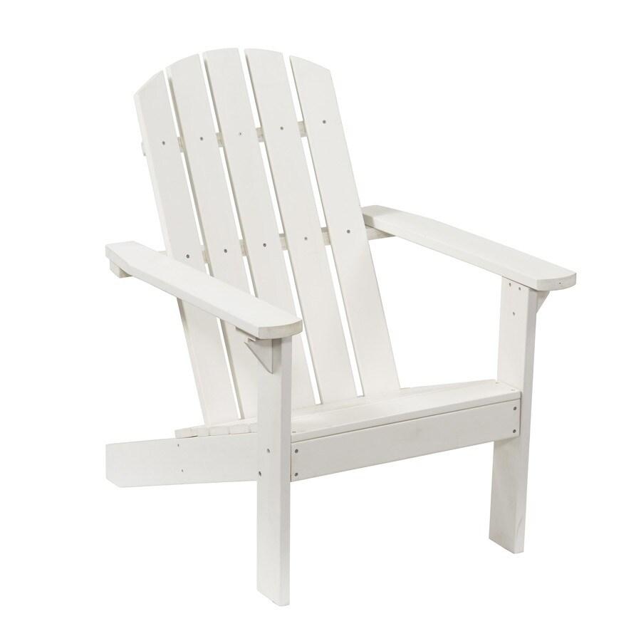 white resin patio adirondack chair