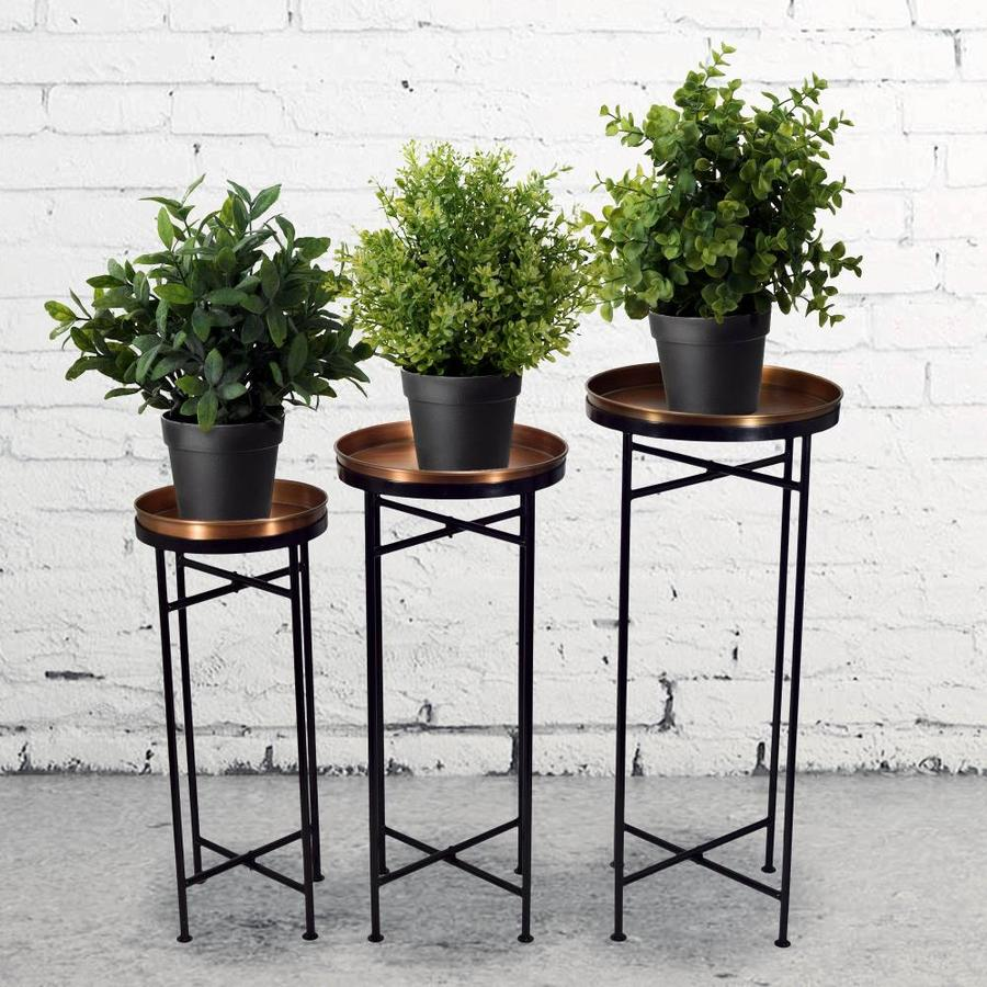 30 2 In Copper Black Indoor Outdoor Round Steel Plant Stand In The Plant Stands Department At Lowes Com
