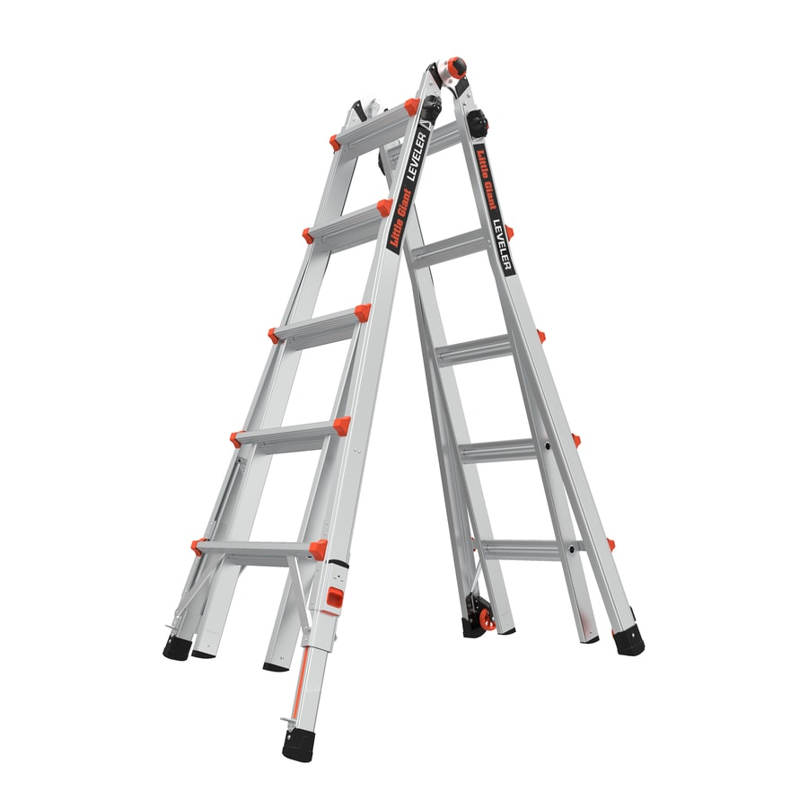 little giant ladders leveler m22 with leg levelers aluminum 19 ft reach type 1a 300 lbs capacity telescoping multi position ladder
