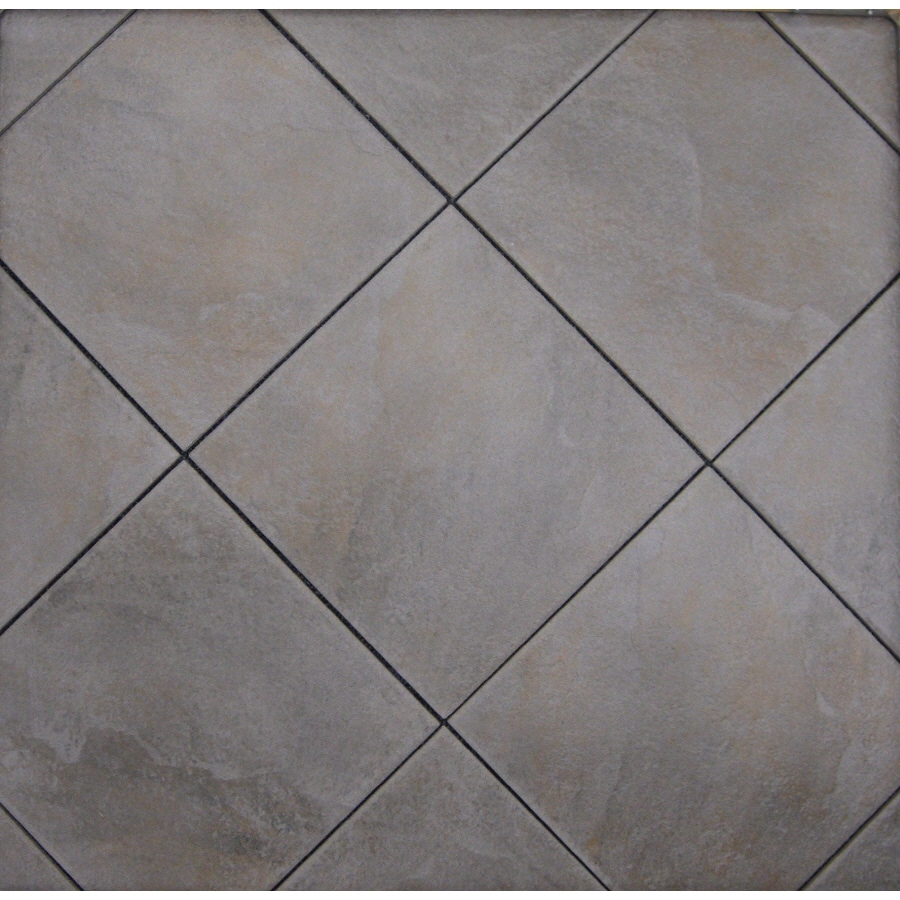 style selections jackson ridge black glazed porcelain indoor outdoor floor tile common 12 in x 12 in actual 11 75 in x 11 75 in