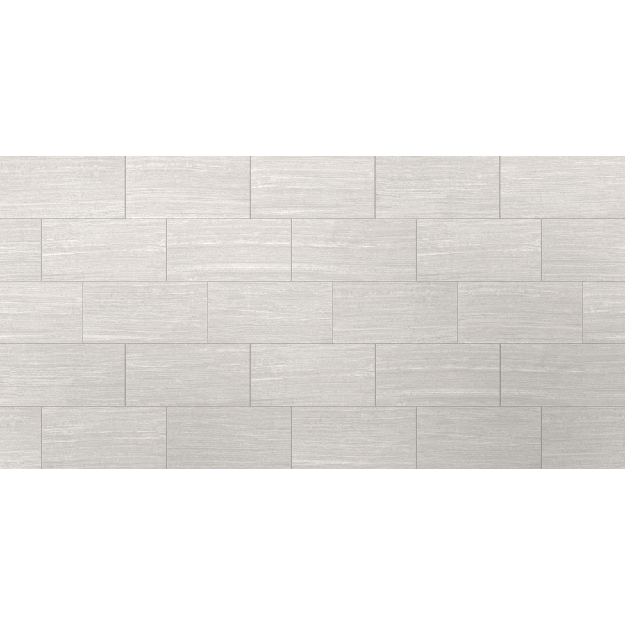 style selections leonia silver 12 in x 24 in glazed porcelain stone look floor and wall tile