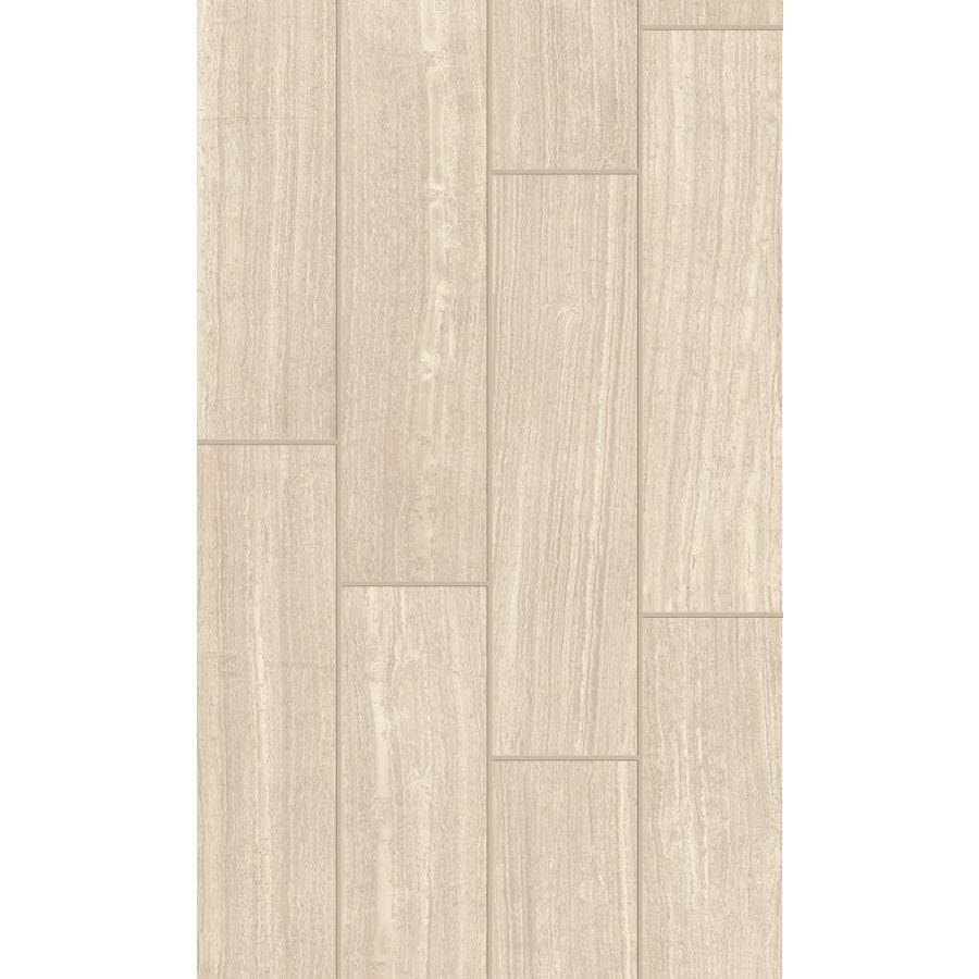 style selections leonia sand 6 in x 24 in glazed porcelain tile