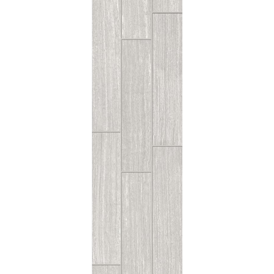 style selections leonia silver 6 in x 24 in glazed porcelain tile