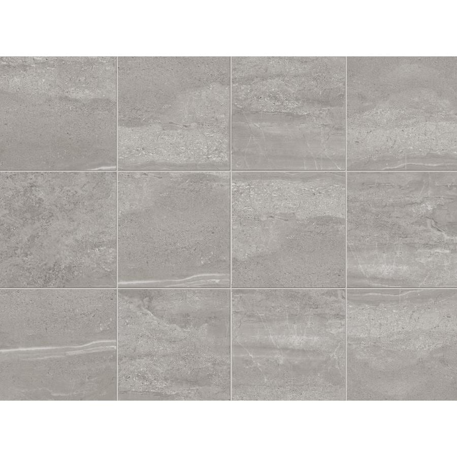 style selections skyros 8 pack gray 18 in x 18 in glazed porcelain tile