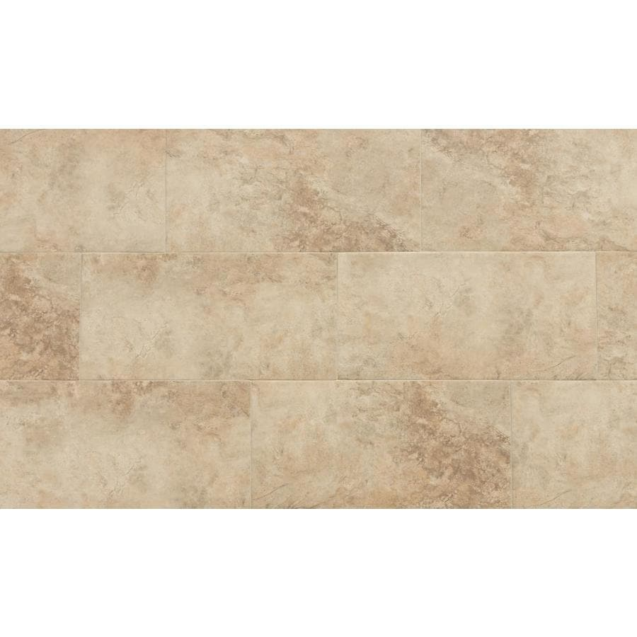 style selections mesa beige 12 in x 24 in matte porcelain stone look floor tile
