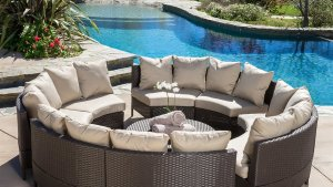 Best Selling Home Decor Newton 10 Piece Wicker Frame Patio