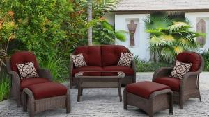 Hanover Outdoor Furniture Newport 6 Piece Wicker Frame