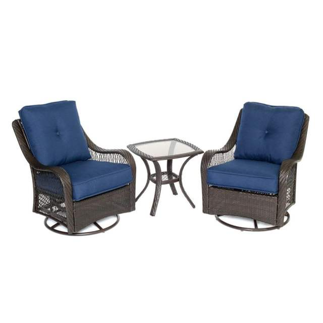 hanover outdoor furniture orleans 3-piece wicker frame patio