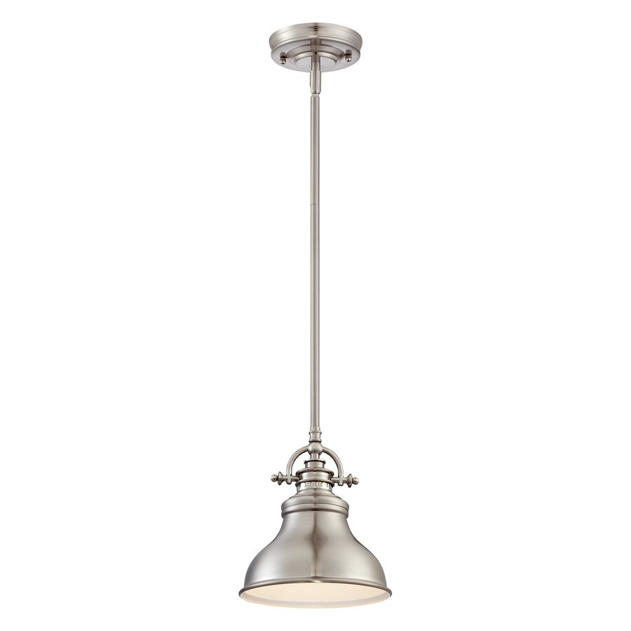 Brushed Nickel Mini Pendant Light