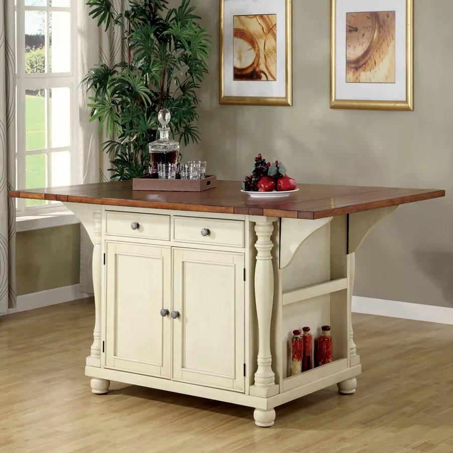 Shop Coaster Fine Furniture White Craftsman Kitchen Island