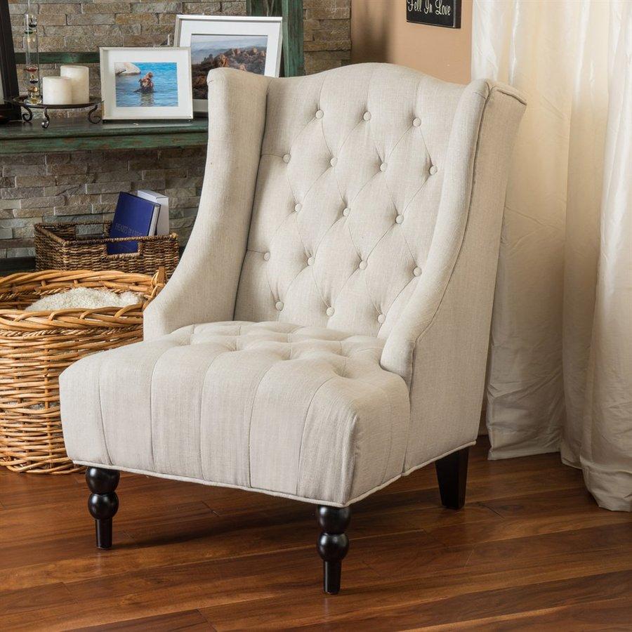 Navy Accent Chair Ottoman