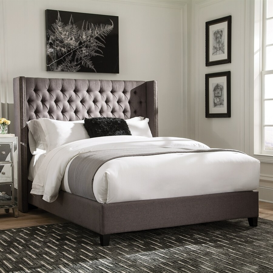 Shop Scott Living Grey Twin Upholstered Bed At