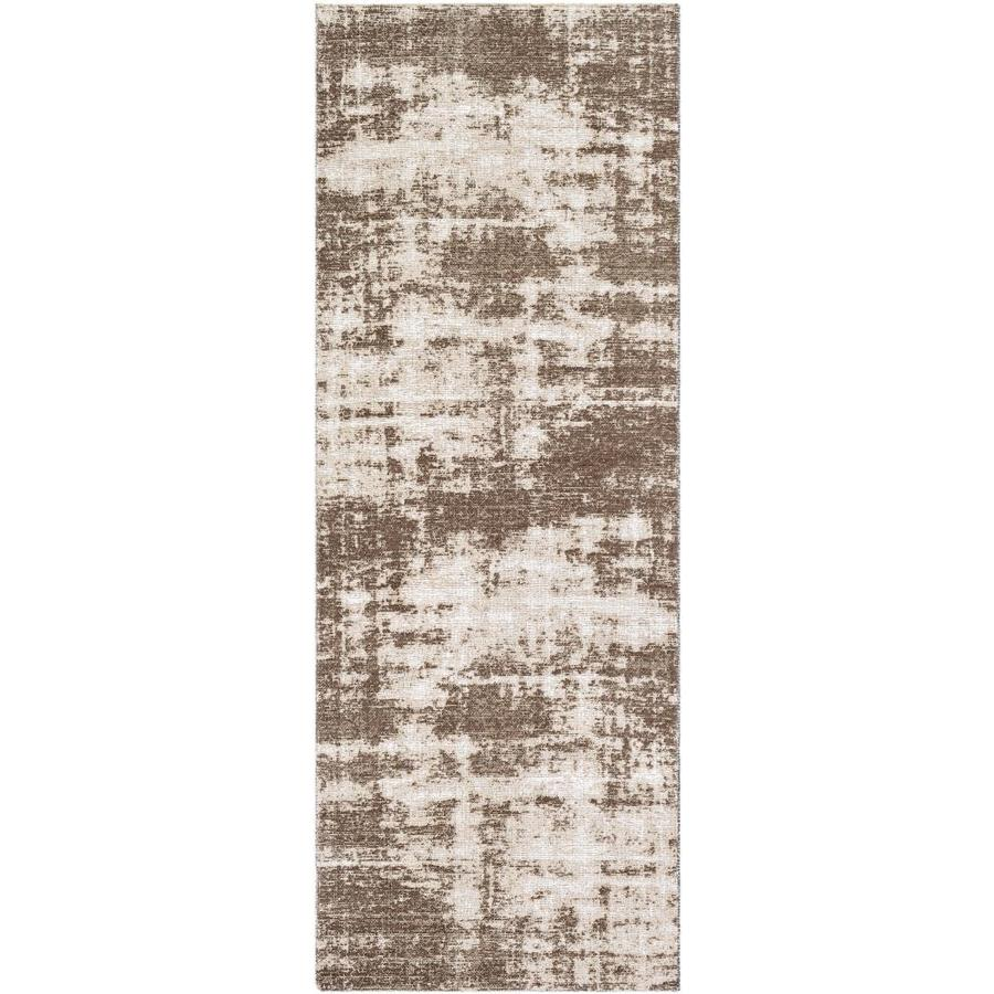 surya kilim 2 x 8 dark brown indoor abstract industrial runner in the rugs department at lowes com
